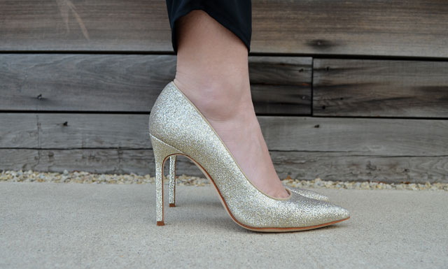 StyleMouse Would You Wear Gold Glitter Shoes